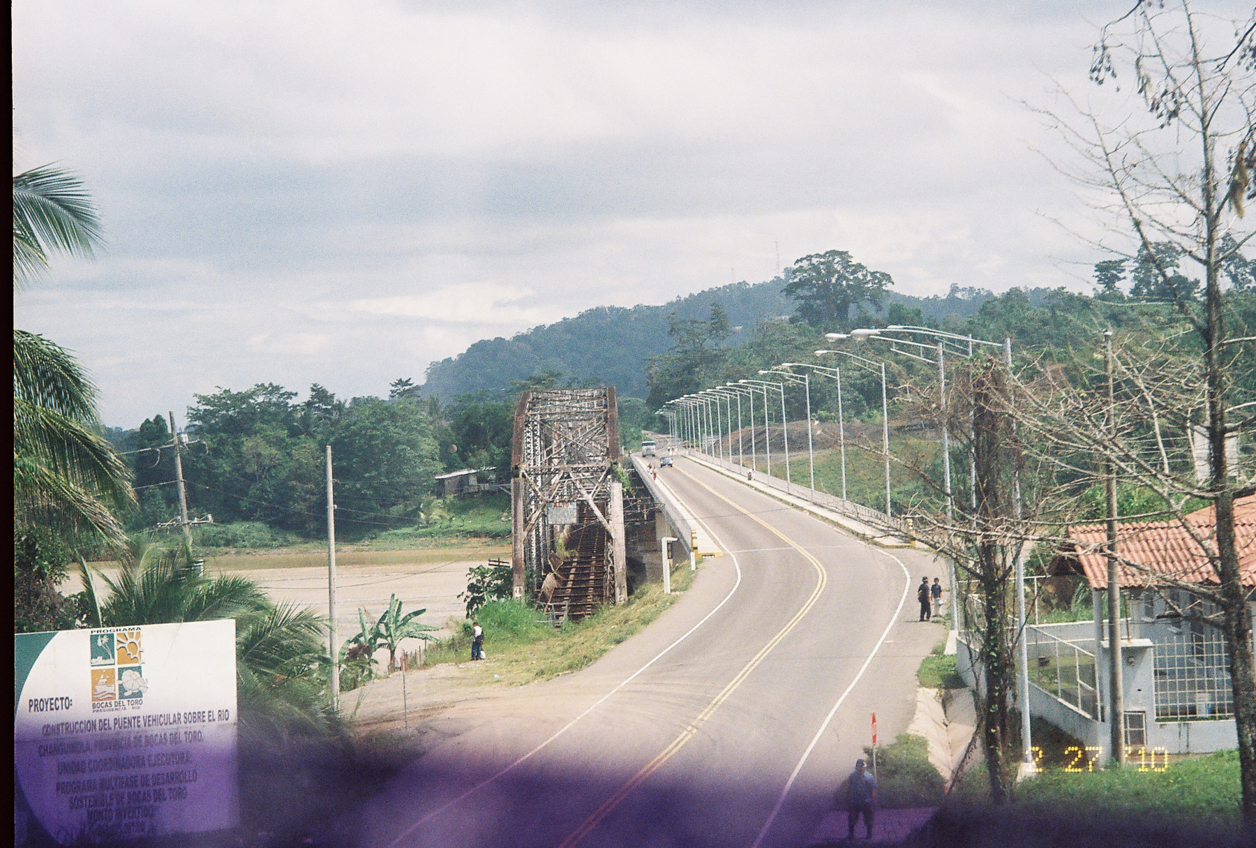 The newly completed bridge over the Rio Changuinola