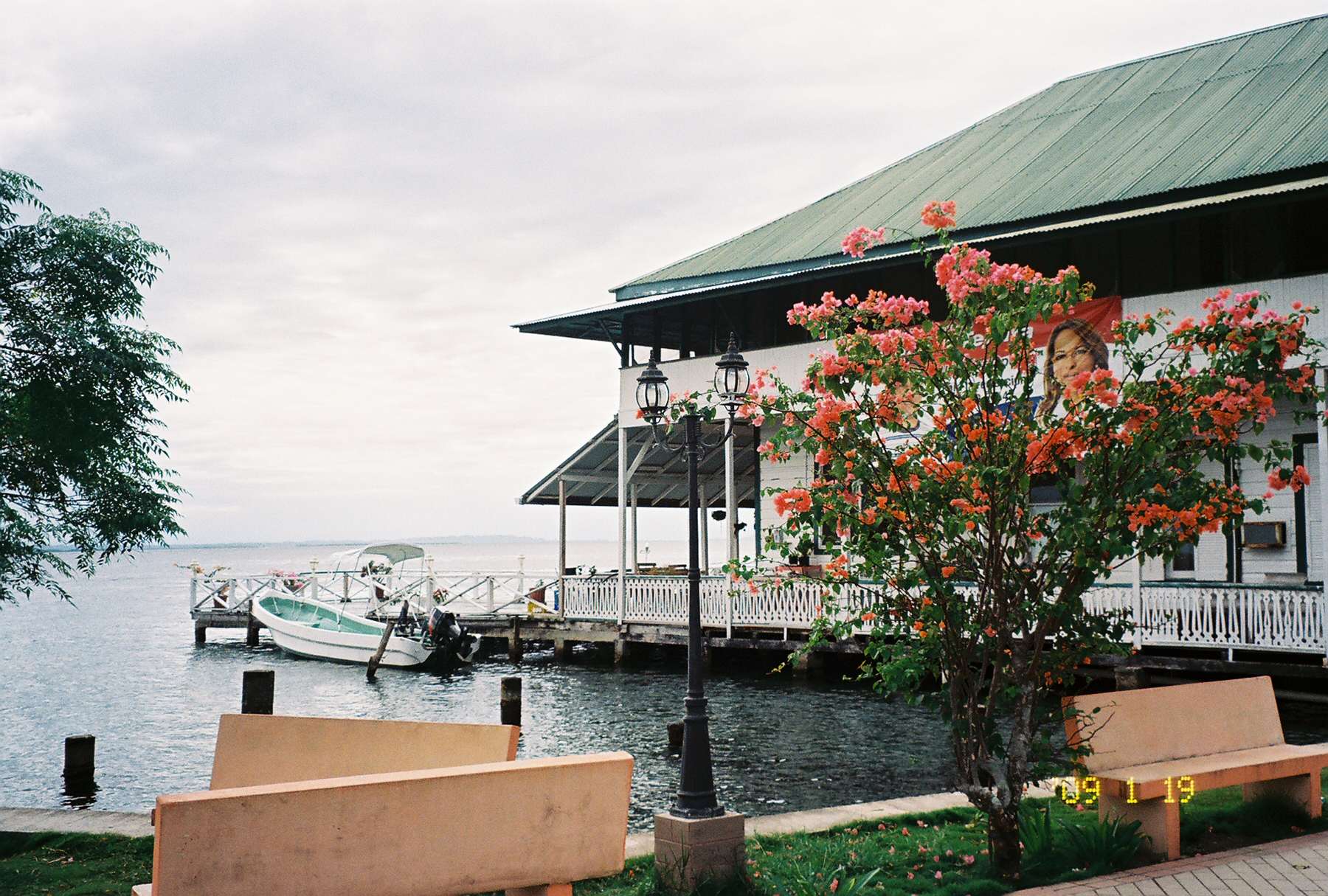 A restaurant on the water in Bocas Del Toro, Panama